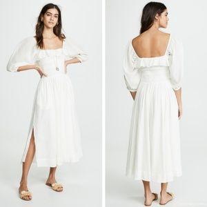 Free People Oasis Midi Dress - White, Lg.